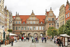 Green gate in Gdansk. Poland Stock Photography