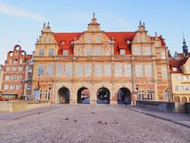 Green Gate in Gdansk, Poland Stock Photos