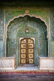 Green gate in Jaipur Royalty Free Stock Images