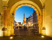 The Green Gate in the old town of Gdansk Stock Photo
