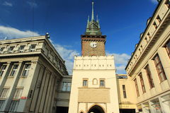 Green gate in Pardubice Royalty Free Stock Image