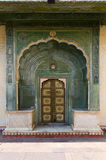 Green Gate in Pitam Niwas Chowk, Jaipur City Palace Royalty Free Stock Photo