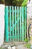 Green gate Royalty Free Stock Image