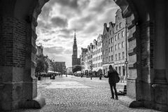The Green Gate view for city hall in Gdansk Royalty Free Stock Images