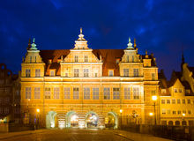 Green gate (zelena brama) at night, Gdansk Royalty Free Stock Photo
