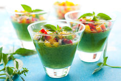 Green Gazpacho Stock Image