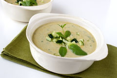 Green gazpacho Stock Photography