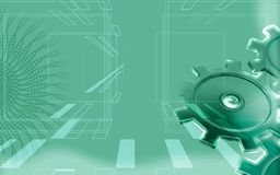 Green gear background Royalty Free Stock Photography