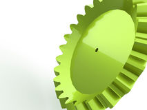 Green gear with reflection Stock Photography