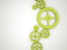Green gears Royalty Free Stock Image