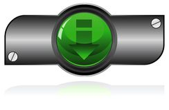 Green Gel button Royalty Free Stock Photos