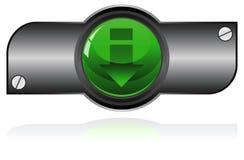Green Gel button Royalty Free Stock Photos