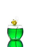 Green gel candle Royalty Free Stock Photo