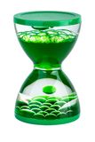 Green gel hourglasses Stock Photo