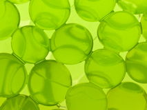 Green gel spheres Stock Images