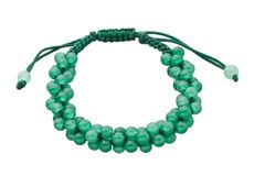 Green gemstone beads bracelet Stock Image