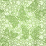 Green gentle floral pattern Stock Images