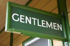 Green Gentleman Toilet Sign Royalty Free Stock Photo