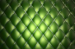 Green genuine leather pattern Royalty Free Stock Images