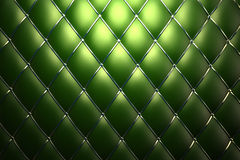 Green genuine leather pattern background Royalty Free Stock Photos