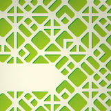 Green geometric background Stock Images