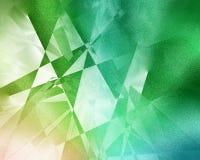 Green geometric background Stock Photography