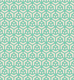 Green geometric block outlines Stock Image