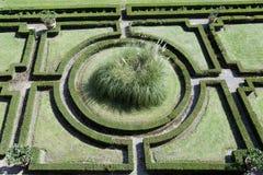 Green geometric garden. Beautiful green geometric garden view from above Stock Photography