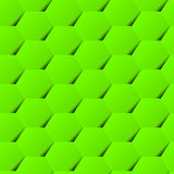Green geometric hexagon background seamless pattern with shadow Stock Photos