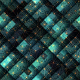 Green geometric pattern in matrix style Stock Photos