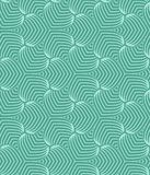 Green geometric stylized succulent leaves pattern Graphic floral background. Vector seamless repeat. royalty free illustration