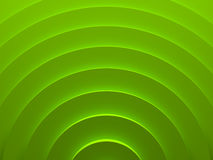 Green geometric vortex. Abstract pattern. For web template background, brochure cover or app. Material style. Geometric 3D illustration Stock Image