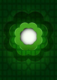 Green geometrical grid with dark blossom cloud vector Royalty Free Stock Photography