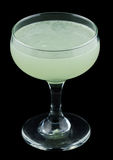 Green Ghost cocktail isolated on black background Stock Image