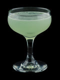 Green Ghost cocktail isolated on black background Stock Photography
