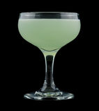 Green Ghost cocktail isolated on black background Stock Photos