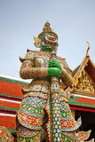Green Giant. Guardian the gate to a temple in Thailand Stock Photos