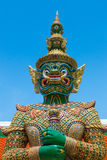 The green giant statue (called Ravana) at Wat Phra Si Rattana Satsadaram, Bangkok Stock Images