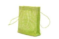 Green gift bag Stock Photography