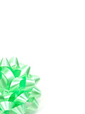 Green Gift Bow Royalty Free Stock Photo