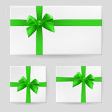 Green gift bow Royalty Free Stock Images