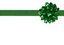 Green Gift bow Royalty Free Stock Image