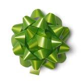 Green Gift Bow Stock Photos