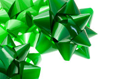 Green gift bows Royalty Free Stock Image
