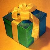 Green gift box Royalty Free Stock Image