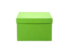 Green gift box Stock Photos