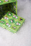 Green gift box Stock Photography