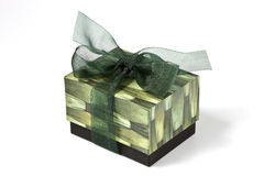 Green gift box. For special day Stock Photos