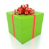 Green gift box Royalty Free Stock Images