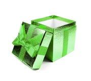 Green gift box Royalty Free Stock Image